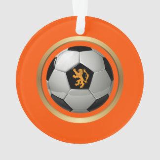 Netherlands Soccer Ball,Dutch Lion on Orange Ornament