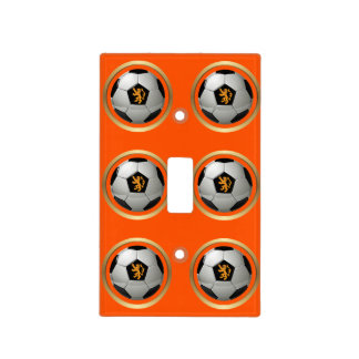 Netherlands Soccer Ball,Dutch Lion on Orange Switch Plate Cover