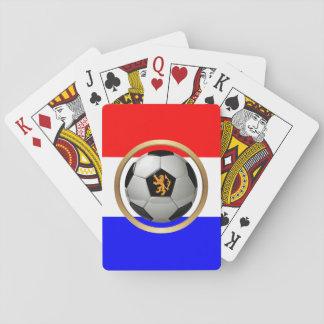 Netherlands Soccer Ball with Dutch Lion Card Deck