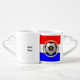 Netherlands Soccer Ball with Dutch Lion Lovers Mugs