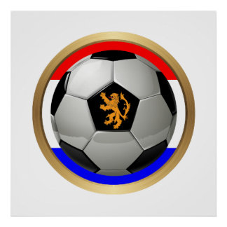 Netherlands Soccer Ball with Dutch Lion Print