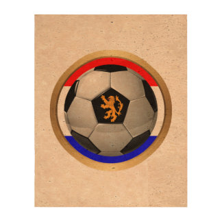Netherlands Soccer Ball with Dutch Lion Cork Paper Prints