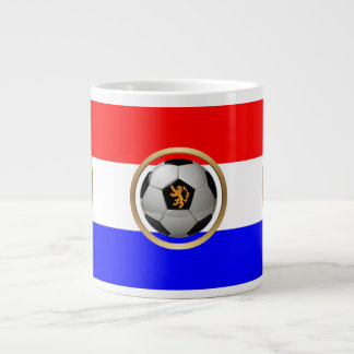 Netherlands Soccer Ball with Dutch Lion Extra Large Mug