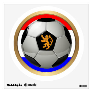 Netherlands Soccer Ball with Dutch Lion Wall Decal