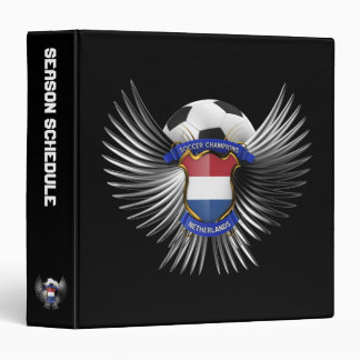 Netherlands Soccer Champions 3 Ring Binders