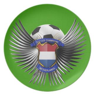 Netherlands Soccer Champions Dinner Plates
