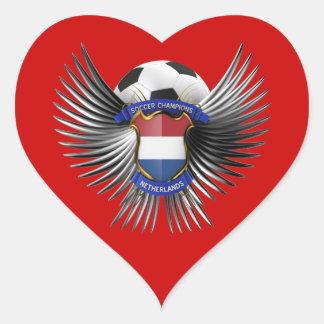 Netherlands Soccer Champions Heart Sticker
