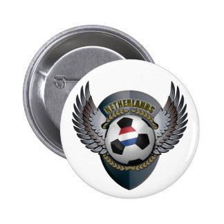 Netherlands Soccer Crest Button