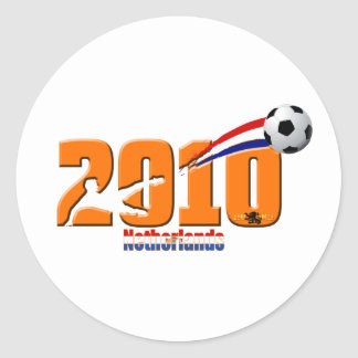 Netherlands Soccer Laranje Logo 2010 gear Classic Round Sticker