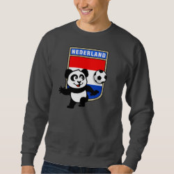 Men's Basic Sweatshirt with Dutch Football Panda design