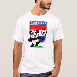 Men's Basic T-Shirt with Dutch Football Panda design