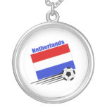 Netherlands Soccer Team Round Pendant Necklace