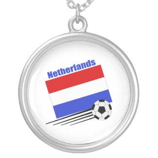 Netherlands Soccer Team Round Pendant Necklace