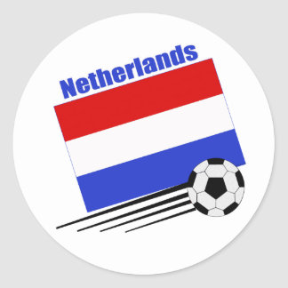 Netherlands Soccer Team Classic Round Sticker