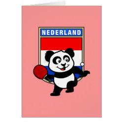 Greeting Card with Dutch Table Tennis Panda design