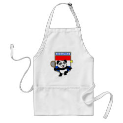Apron with Dutch Tennis Panda design