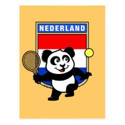 Postcard with Dutch Tennis Panda design