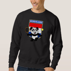 Men's Basic Sweatshirt with Dutch Tennis Panda design
