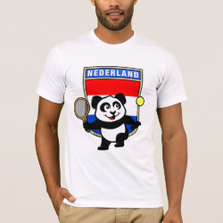 Men's Basic American Apparel T-Shirt with Dutch Tennis Panda design