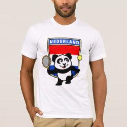 Men's Basic American Apparel T-Shirt with Dutch Tennis Panda design