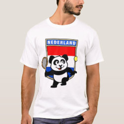 Men's Basic T-Shirt with Dutch Tennis Panda design