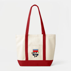 Impulse Tote Bag with Dutch Tennis Panda design