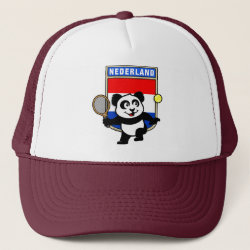 Trucker Hat with Dutch Tennis Panda design