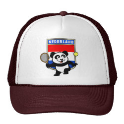 Trucker Hat with Dutch Tennis Panda design
