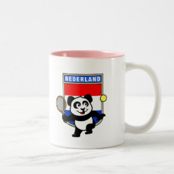 Two-Tone Mug with Dutch Tennis Panda design