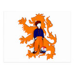 Netherlands Traditional Dutch Clogs Lion Gear Post Card
