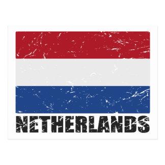 Netherlands Vintage Flag Postcard