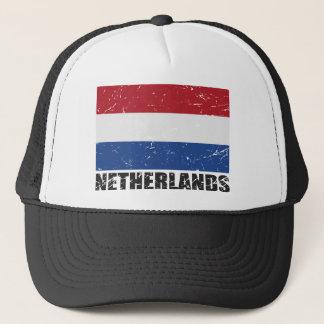 Netherlands Vintage Flag Trucker Hat