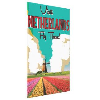Netherlands vintage travel poster canvas print