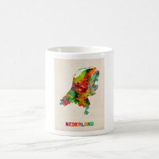 Netherlands Watercolor Map Coffee Mug