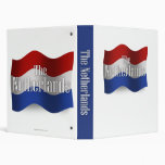 Netherlands Waving Flag 3 Ring Binders