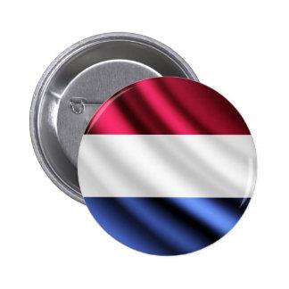 Netherlands waving flag pinback button