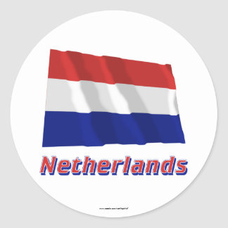 Netherlands Waving Flag with Name Sticker