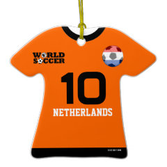 Netherlands World Cup Soccer Jersey Ornament ornament