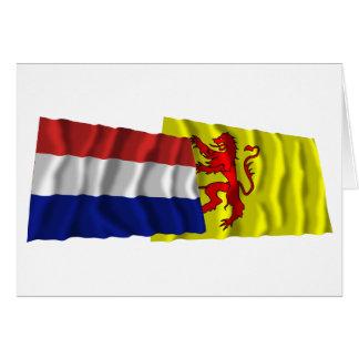Netherlands & Zuid-Holland Waving Flags Card