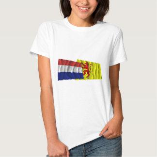 Netherlands & Zuid-Holland Waving Flags Tee Shirt