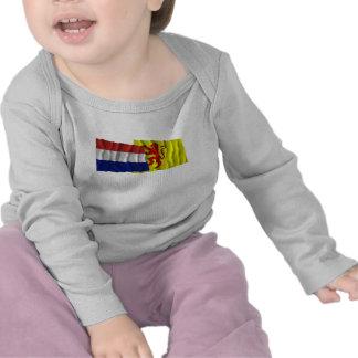 Netherlands & Zuid-Holland Waving Flags T-shirts