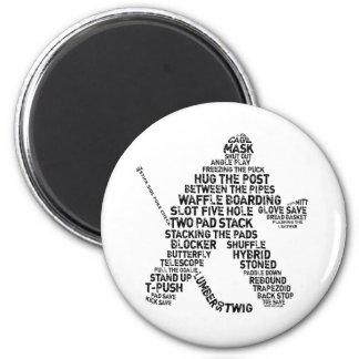 Netminder del hockey imán
