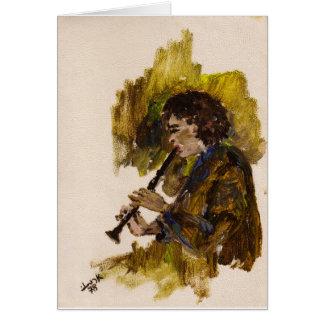 Netta en el clarinet tarjeta de felicitación