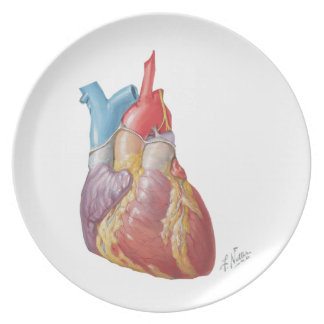 """Netter Heart """"Plate"""" Melamine Plate"""