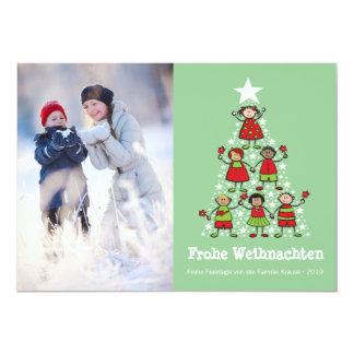 Netter Weihnachtsbaum Kinder-Feiertag Card