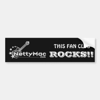 Netty Mac Bumper Sticker Car Bumper Sticker