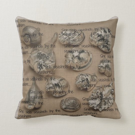 Netural,Sliver Shells,Designed Throw Pillow