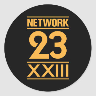Network 23 classic round sticker
