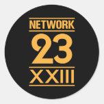 Network 23 pegatina redonda