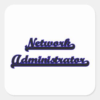 Network Administrator Classic Job Design Square Sticker